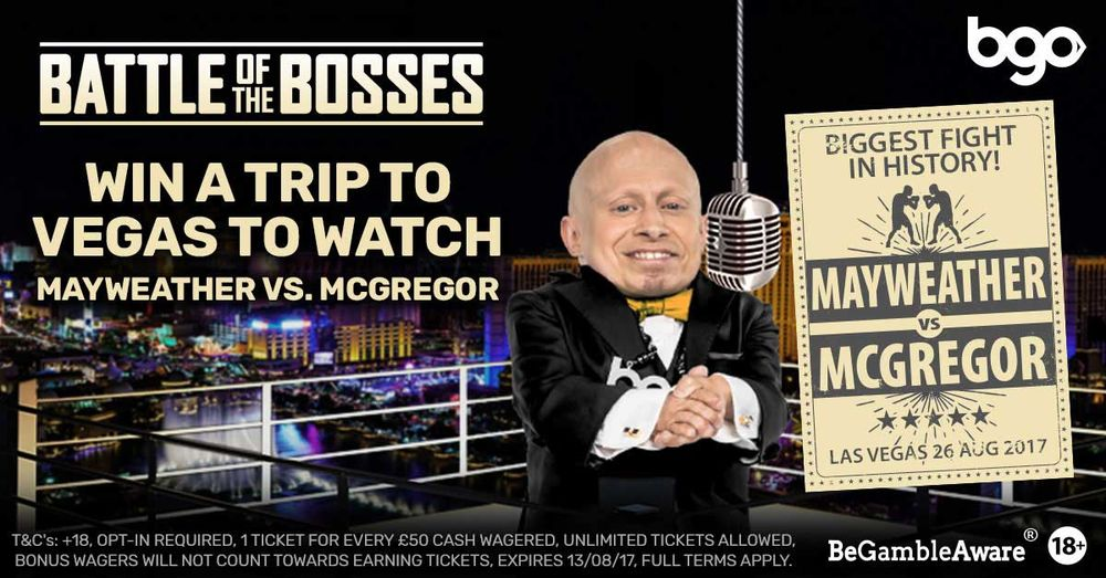 Win trip to Vegas for Mayweather vs McGregor fight with BGO
