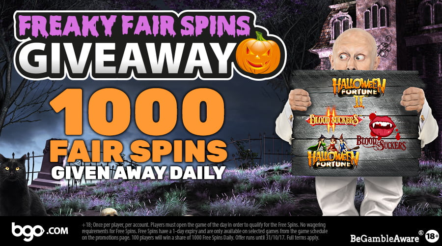BGO Casino gives away 13.000 freaky fair spins
