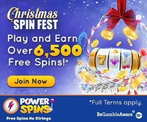 Christmas casino promotion Powerspins