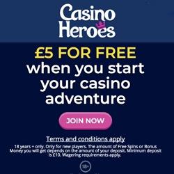 casino heroes £5 no deposit bonus