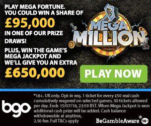 Mega Millions bgo promo