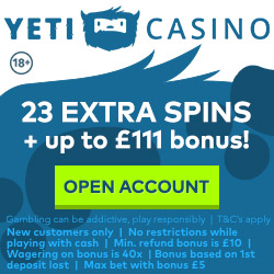 Yeti new UK casino