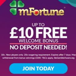 £10 free MFortune casino