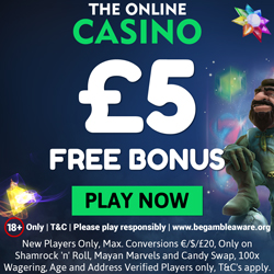 Get £5 free at the online casino
