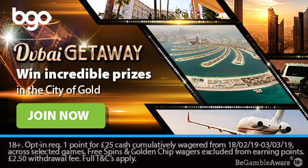 Win a trip to Dubai with BGO Casino