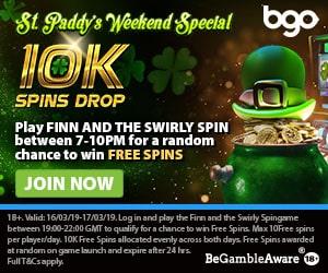 St.Paddy's BGO promotion