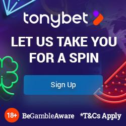 Tonybet £300 bonus