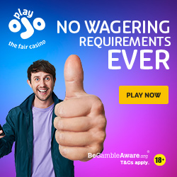 PlayOJO No wagering casino