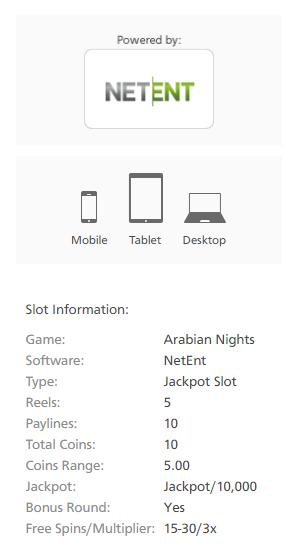 Arabian Nights Netent