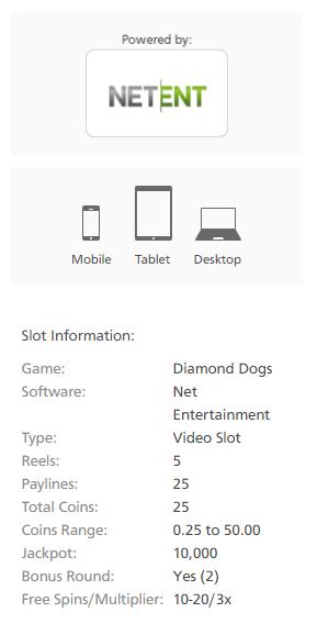 Diamond Dogs slot Netent