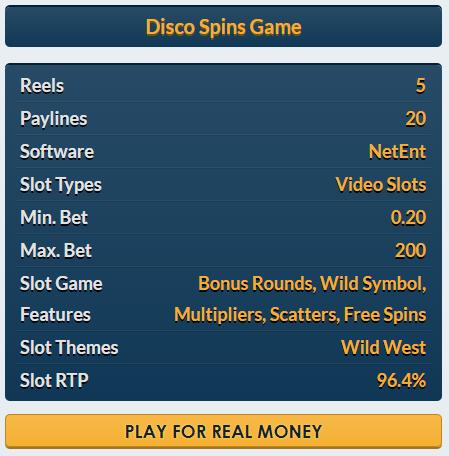 Disco Spins slot Netent