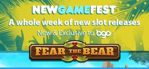 Fear the Bear exclusively at bgo