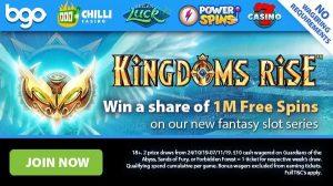 Kingdoms Rise casino series