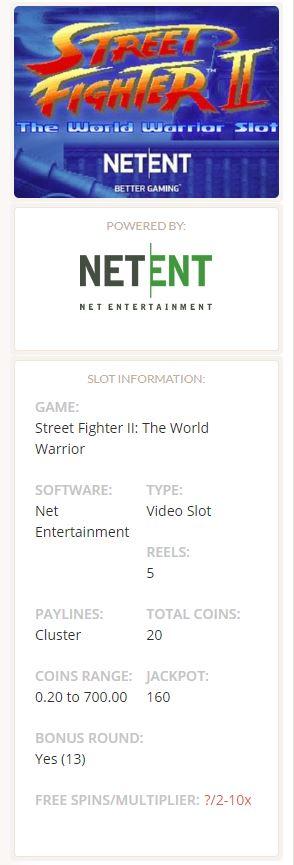 Street Fighter II slot Netent