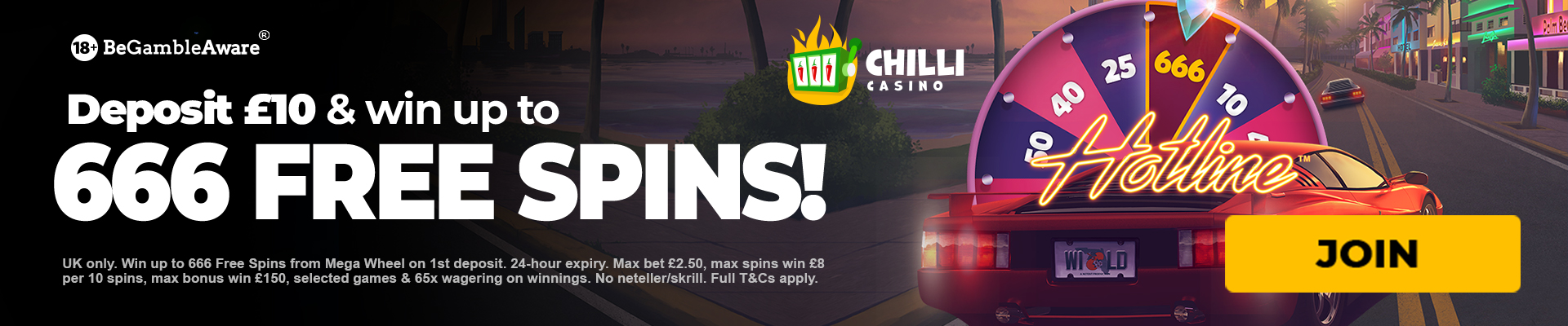 Chilli casino 666 free spins